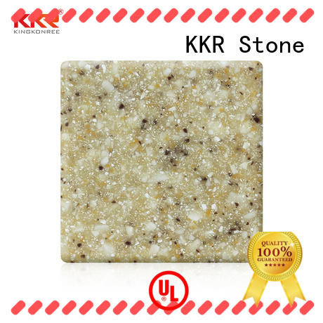 KKR Stone easily repairable solid surface acrylics superior bacteria for bar table