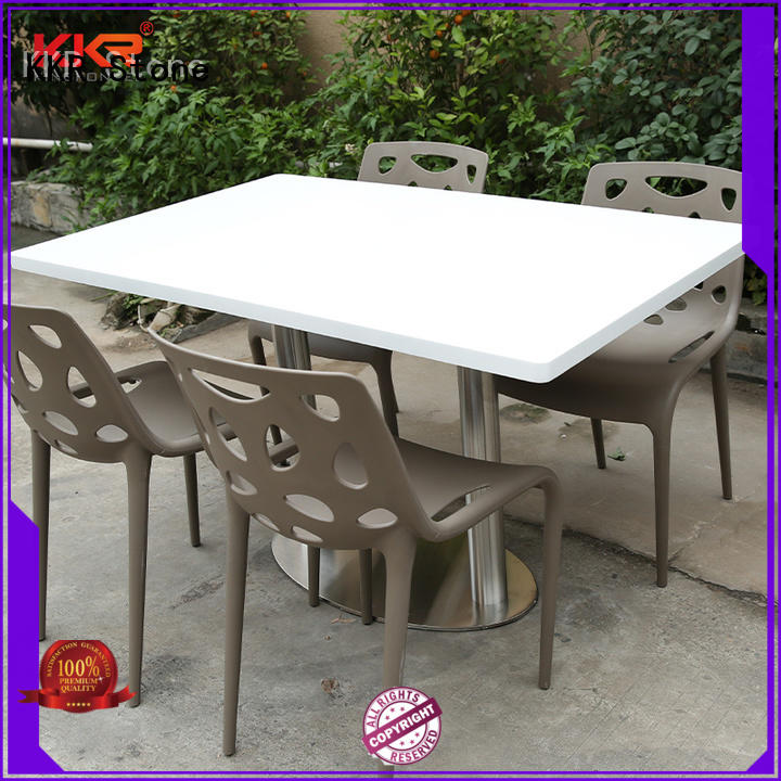 KKR Stone acrylic artificial marble dining table