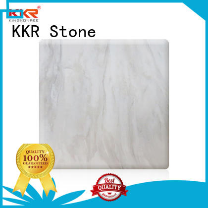 KKR Stone decorative corian solid surface sheet factory for bar table
