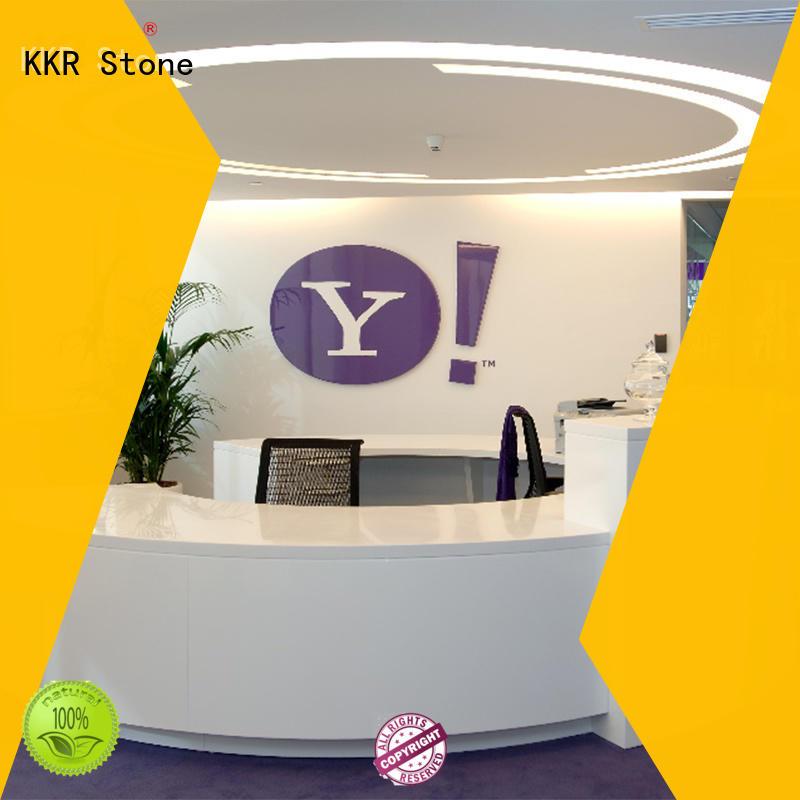 reception desk design classic for school building KKR Stone