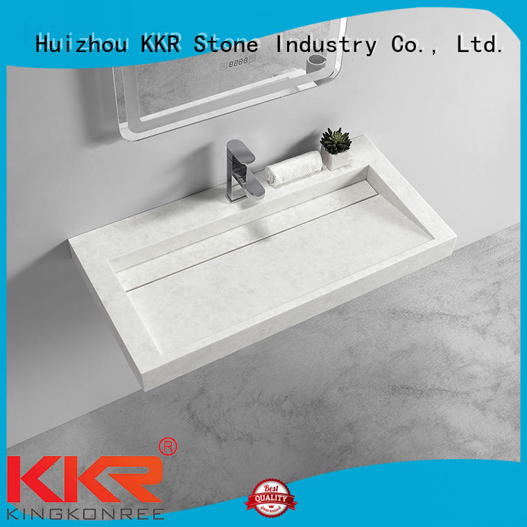 KKR Stone modern bathroom vanity with sink supply for kitchen tops