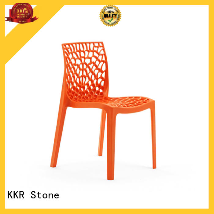 KKR Stone foot small plastic chair for kitchen