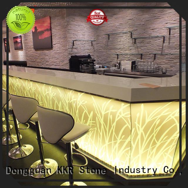 acrylic bar counter acrylic KKR Stone