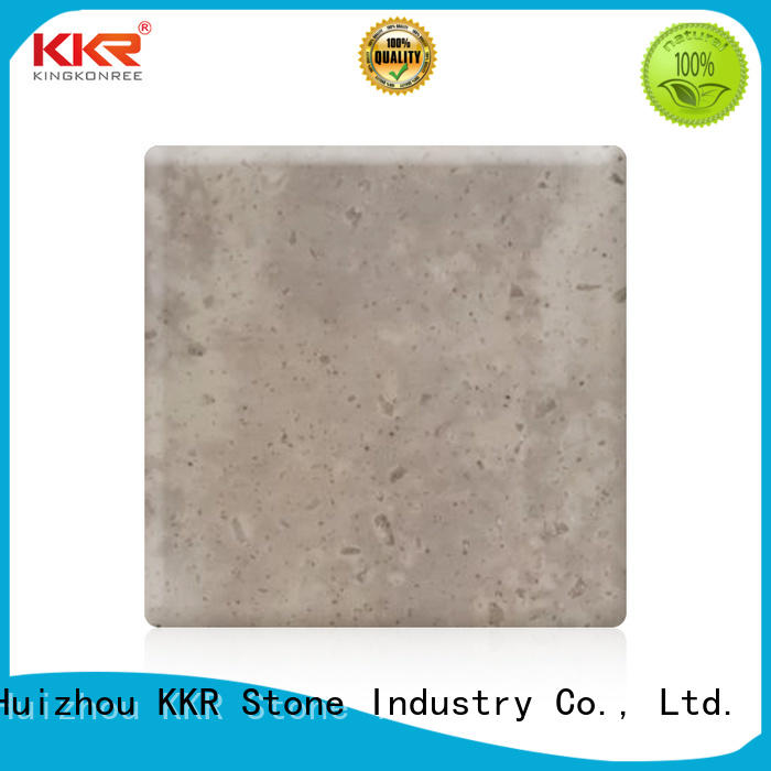 KKR Stone veining solid surface panels factory for bar table